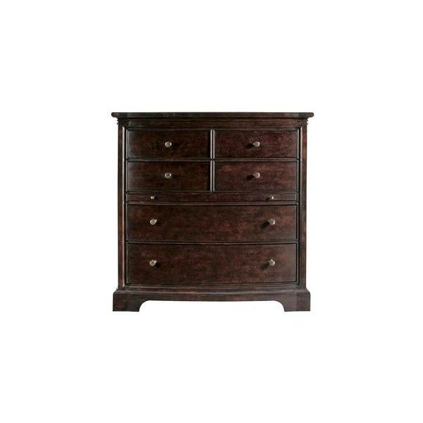 The Classic Portfolio Transitional Three Drawer Night Stand with Wood... ❤ liked on Polyvore featuring home, furniture, storage & shelves, nightstands, polish furniture, stanley furniture, dark brown nightstand, espresso color furniture and veneer wood furniture