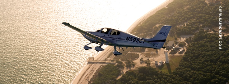 Cirrus SR20, sized for a FB Timelines cover image.