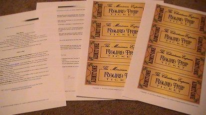 Polar Express Ticket Template Free | ... even instructions on how to make your little express trip fantastic