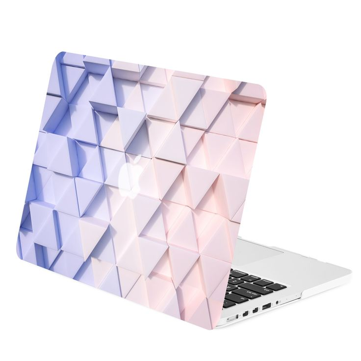 "- Gradient Geometric 3D Triangular Macbook Case Cover Perfect fit for Apple MacBook Pro 15"" with Retina Display Model: A1398 - Ultra slim design that is light in weight, durable and has long lasting p"
