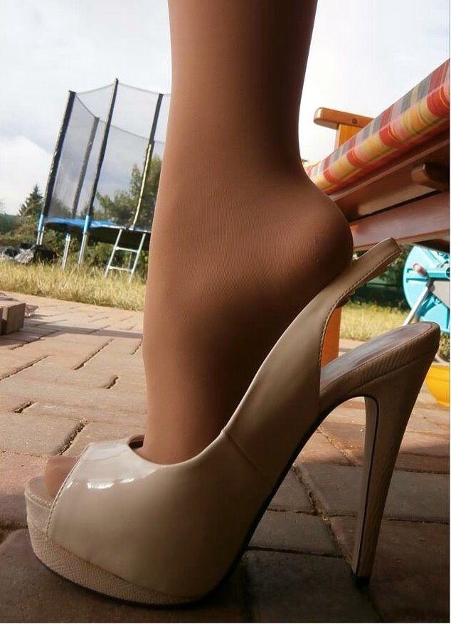 a Pantyhose - Sexiest long legs in sheer pantyhose!