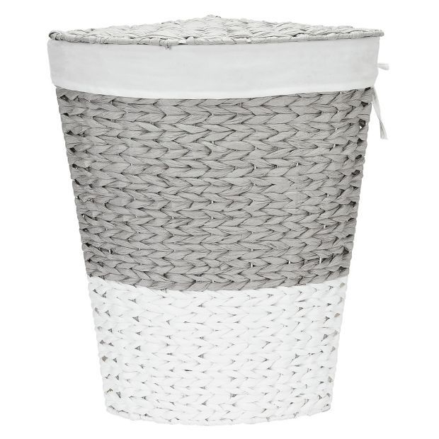 Buy Argos Home 45 Litre Corner Rope Laundry Bin Grey And