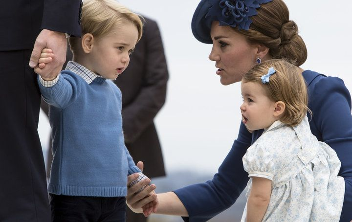 The Duke and Duchess of Cambridge arrive in Victoria, B.C. Canada with their two young children, Prince George and Princess Charlotte