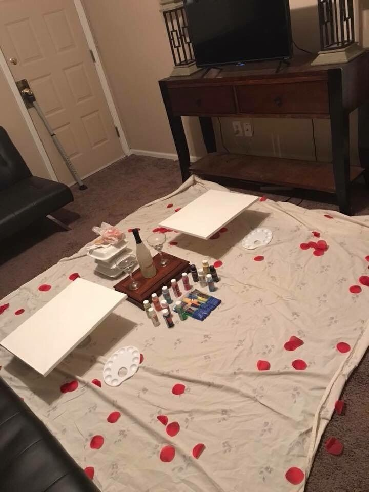 Paint Date Night Cute Date Ideas Romantic Date Night