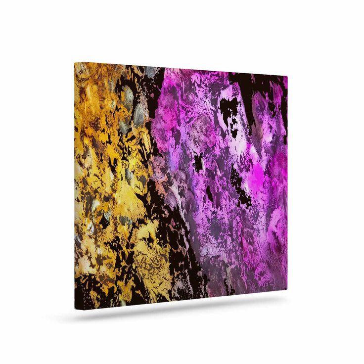 """Rosie Brown """"Garden Glows"""" Gold Purple Canvas Art from KESS InHouse"""