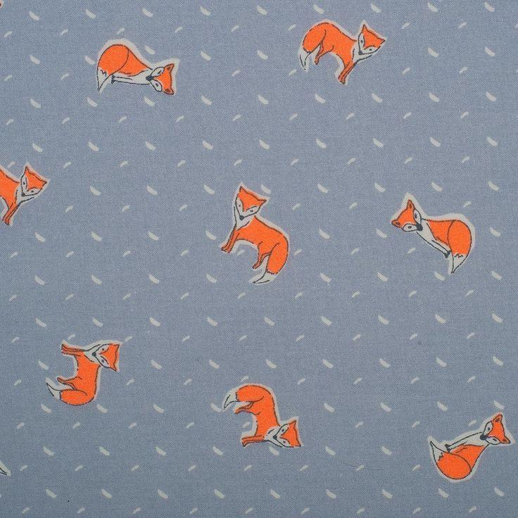 Tissu popeline renard orange fluo   - Mondial Tissus