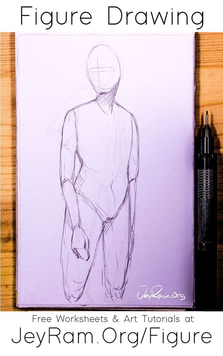 How To Draw The Human Figure Free Worksheets Tutorials In 2020 Human Figure Drawing People Figure Drawing Reference