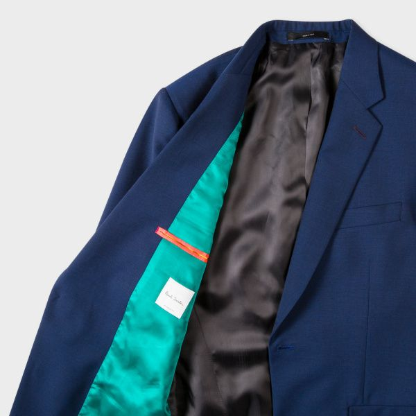 Paul Smith Men's Classic-Fit Blue Wool-Mohair 'A Suit To Travel In'