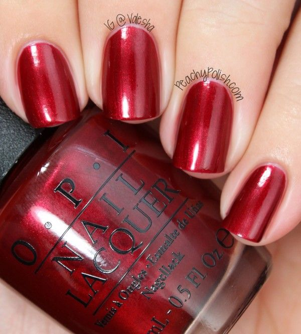 """In My Santa Suit"" is a bright metallic red."