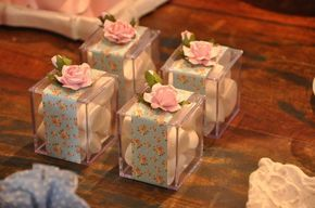 Shabby chic garden birthday party favors! See more party ideas at CatchMyParty.com!