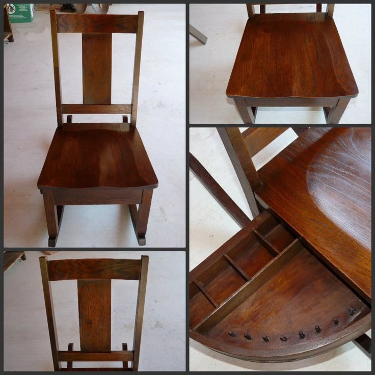 Antique Sewing Rocker With Drawer Rocking Chairs