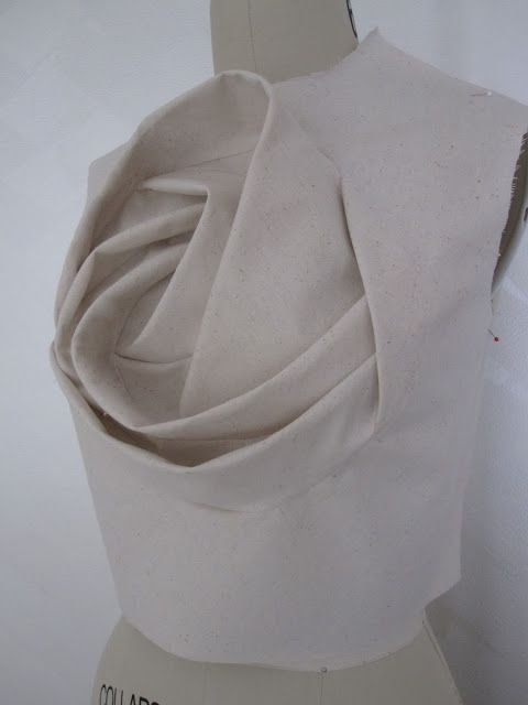 Sculptural Reconstruction technique inspired by Shingo Sato - 3D rose bodice - fashion design; creative pattern making; fabric manipulation // Sew Elizabeth