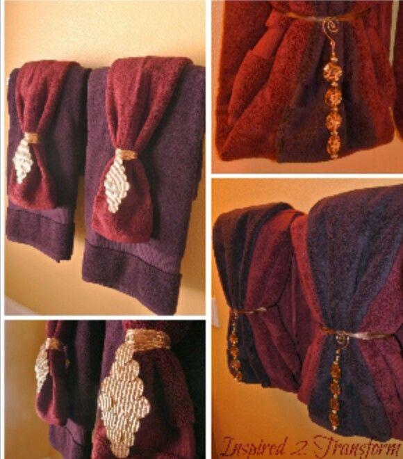 96 best images about decorative towels on pinterest for Bathroom towel folding designs