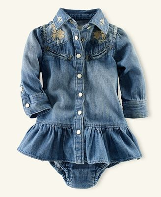 Polo Baby Girl Western Shirtdress