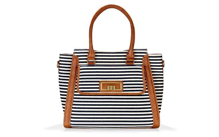 Nautical striped bag