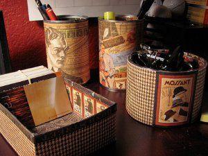 Four Step Vintage Desk Set.  The four step vintage desk set from Jen Goode is an easy way to make your office seem retro vintage. Use vintage paper and start crafting!