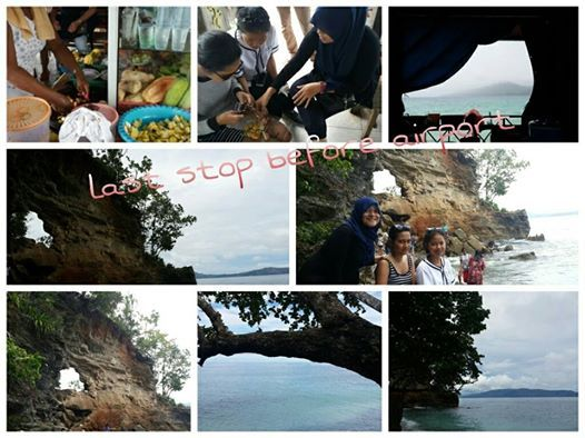 """rujak"" @netsepa beach , then headed to ""Hatu-Laut"""
