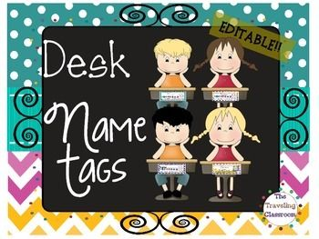 Chalkboard Chevron Polka Dot Editable Name Tag Set!Name Tags, Name Tags Editable, Name Tags Chevron, Name Tags Polka Dot, Name Tags Zaner Bloser, Name Tags D'nealian, Name Tags manuscript, Name Tags cursive, Desk Plates, Name Plates for Desks, Name Label, Name PlatesBeautiful Name Tag Set that you can easily print out, laminate, and put to use immediately in your classroom!