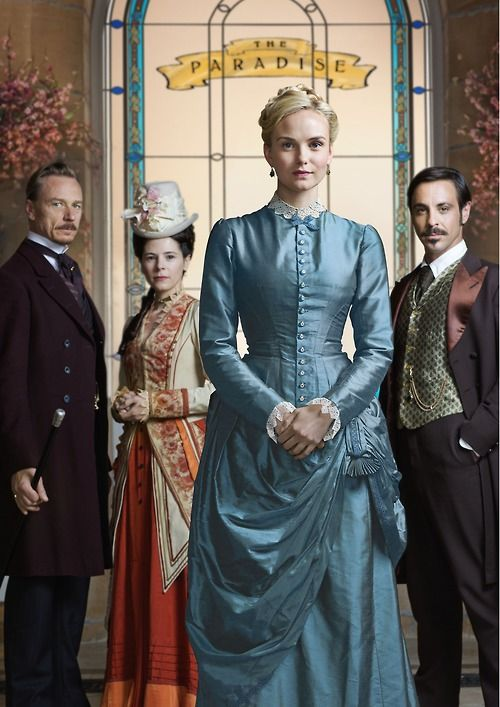 The Paradise. BBC period drama...my fave rave kinda boob tube watchin. On Netflix.