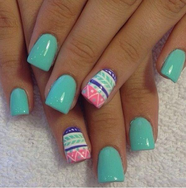 Tribal print nails