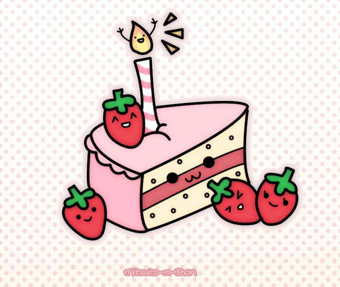рисунки на день рождения кавайные
