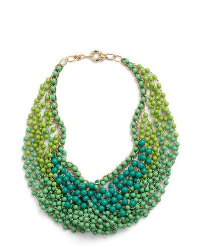 Statement of the Art NecklaceFashion, Statement Necklaces, Style, Beads Necklaces, Art Necklaces, Jewelry, Accessories, Peacocks Colors, Shades Of Green