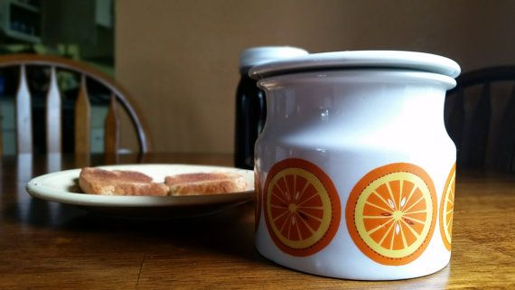 Kaj Franck Arabia of Finland Orange Marmalade Jam Jar
