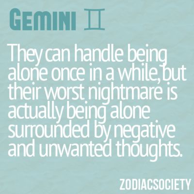 And this is exactly what happens to me. Surrounded by unwanted thoughts.