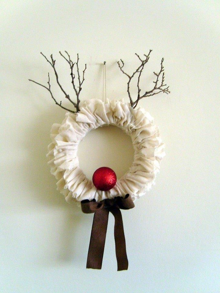 Karácsonyi rénszarvas ajtó kopogtató! Christmas wreath, reindeer!