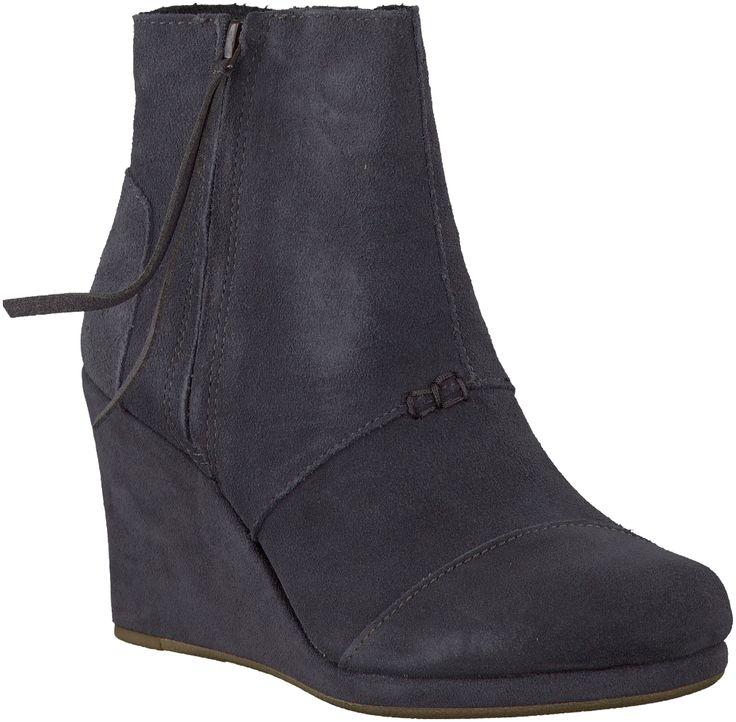 Gray Toms Ankle Boots http://www.omoda.nl/dames/laarzen/enkellaarsjes/toms/grijze-toms-enkellaarsjes-desrhi-wedge-women-49647.html