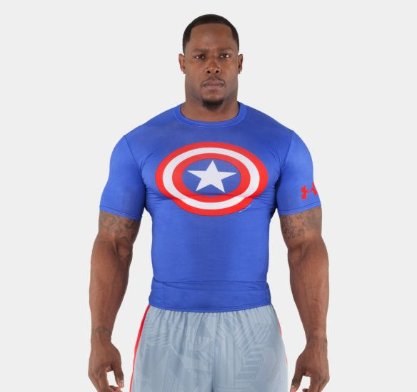 Men's Under Armour® Alter Ego Compression Shirt. Under Armour MenMens  TopsAlter EgoArmoursMens FashionCrossfit GearMen's ActivewearCaptain  AmericaSports ...