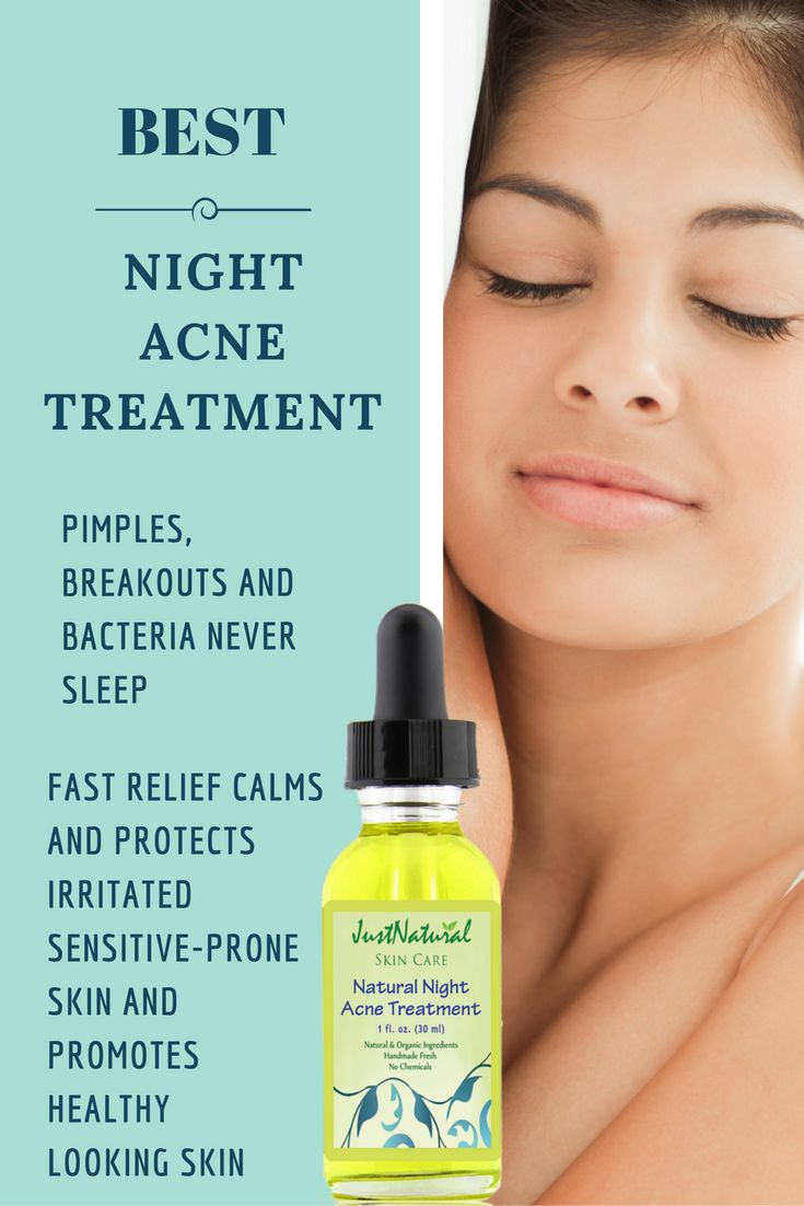 Natural Night Acne Treatment / The night treatment helps your skin relax and stay clean while you sleep so you can wake up with a refreshed look. This treatment can give you a glow starting from your pores to the surface of your skin. This night treatment did not create any cycle of dependency on your skin and you can stop using this treatment when your skin is clear and smooth. Immediately stops the breakout or pimple from getting bigger and helps it to disappear.