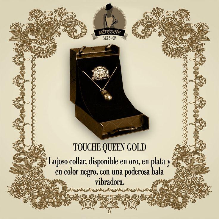 #SexShop #Sevilla TOUCHE QUEEN GOLD Lujoso collar, con una poderosa bala vibradora.   http://atreveteshop.es/ropa-con-vibracion/20259-touche-queen-collar-con-vibrador-oro-gs-04871.html
