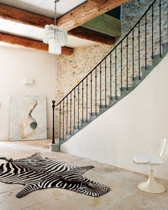 French country style stairs