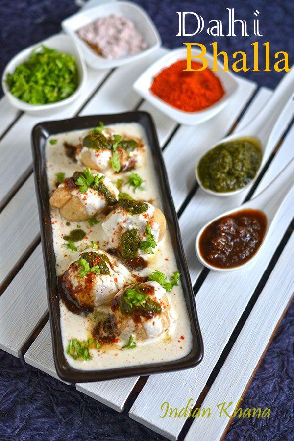 Dahi Bhalla | Dahi Bhalle (Vada) Recipe | North Indian Street Food ~ Indian Khana