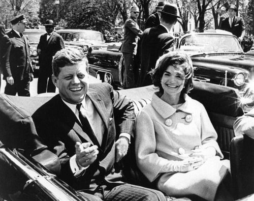 John F. Kennedy smiling for one of the last times. November 22, 1963
