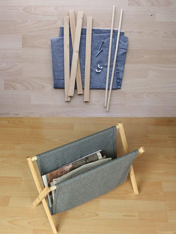 Un revistero plegable DIY - Muy Ingenioso