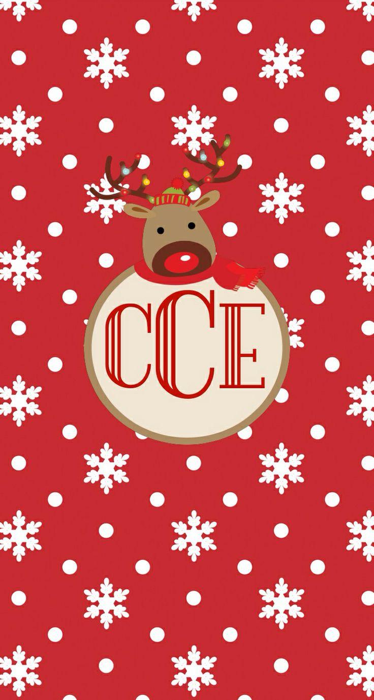 Christmas monogram wallpaper