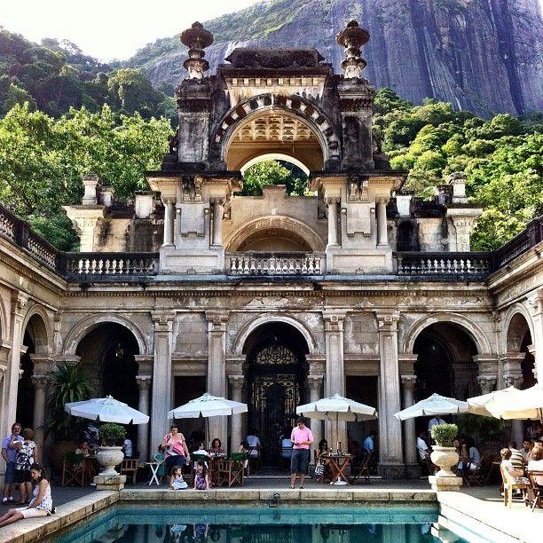 Cafe du Lage - Botanical Garden, Rio de Janeiro, Brazil. Parque Henrique Lage Rua Jardim Botanico, Rio de Janeiro, État de Rio de Janeiro, Brésil (Jardim Botânico, Lagoa)