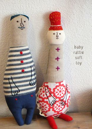 Baby Rattle Soft Toy ~ Inspiration ( more Picture, Scroll Down) http://fabrickaz.jugem.jp/?page=11