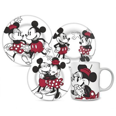 Disney® 'Mickey & Minnie' 4-Piece Retro Dinnerware Set - Sears | Sears Canada