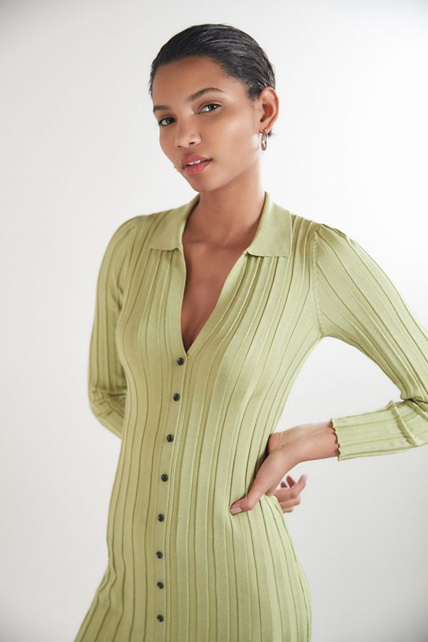 Uo Alta Button Down Sweater Dress Style Inspiration Style