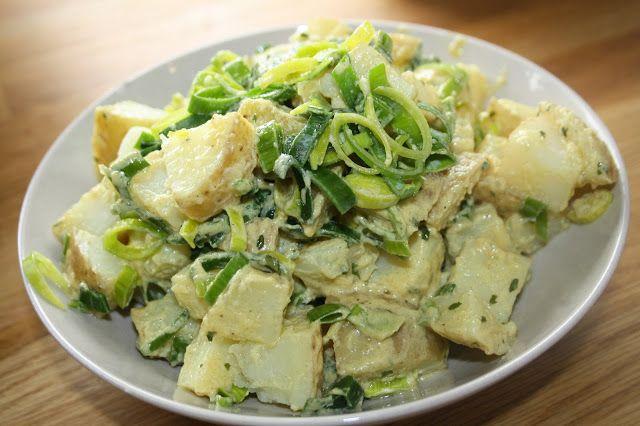 Veganeren: Lun potetsalat med sennepsdressing