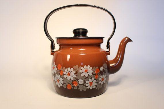 Arabia Finel Tea pot Kettle Enamel by wajretro on Etsy, kr450.00