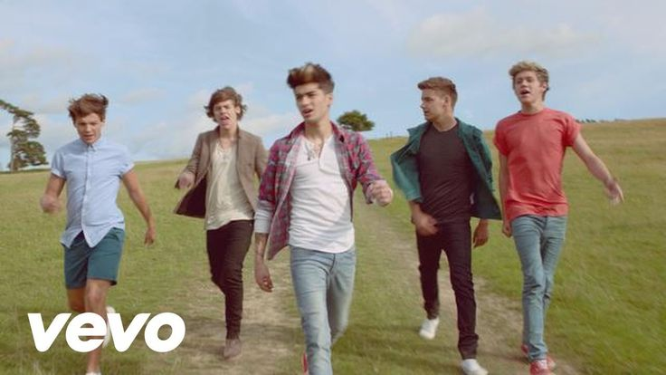 One Direction - Live While We're Young>>I love how the guys are just being crazy in this one, knocking each other over, etc. and when Zayn falls over at the end? priceless, these people with angel's voices<3<3