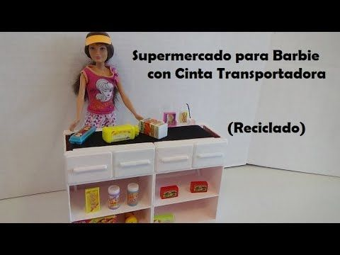 Como Hice mi Supermercado con Cinta Transportadora (Reciclado)