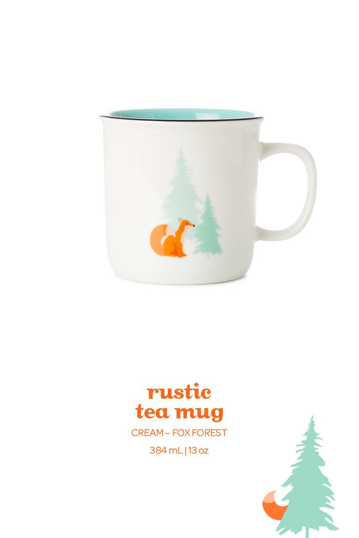 With pretty pine trees and foxes, this woodsy-chic mug is perfect for fall.
