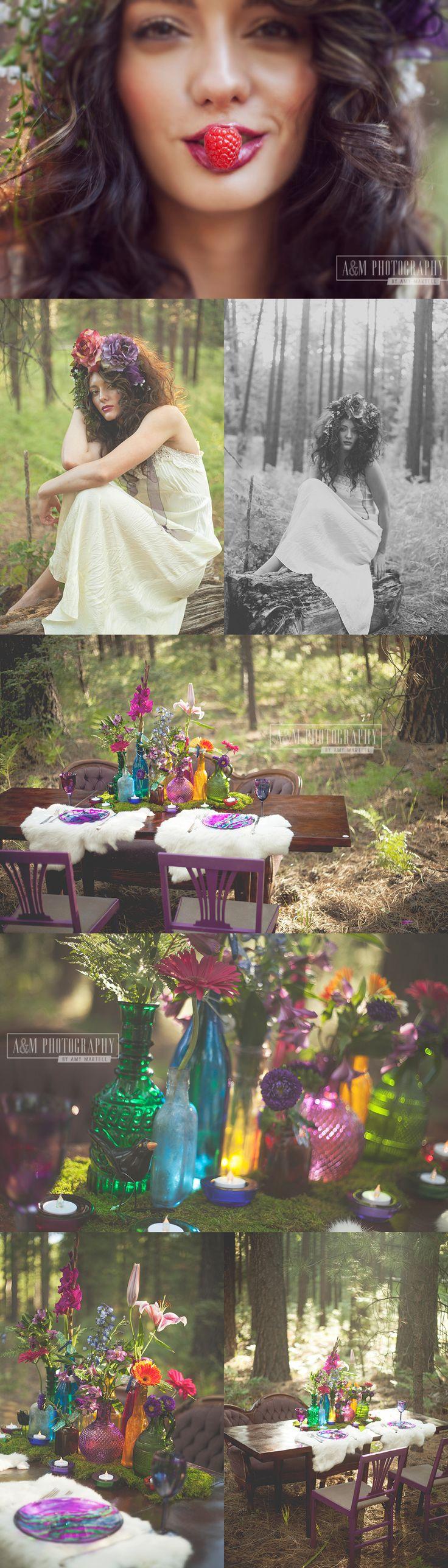 Amazing styled shoot. Jewel tone wedding inspiration.