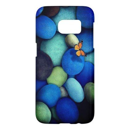 Blue green samsung S7 mobile case - blue gifts style giftidea diy cyo