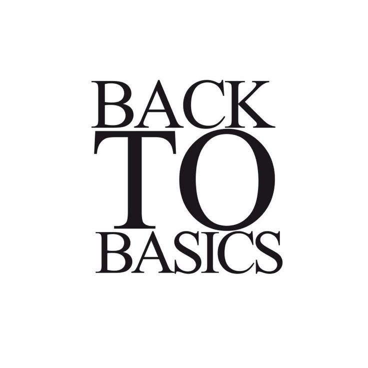 Hello, Back to Basics.